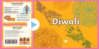 Diwali PowerPoint English/Afrikaans - Celebration, traditions, lights, fees, tradisies, EAL