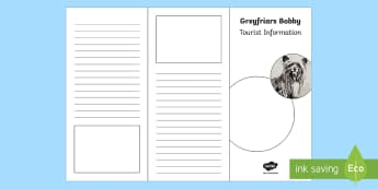 Greyfriars Bobby Tourist Information Leaflet Activity - CfE Scottish Significant Individuals,Scottish, dog, edinburgh, greyfriars bobby.