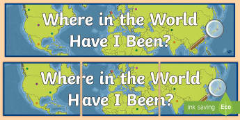 Where in the World Have I Been? Display Banner - Where in the World Have I Been? Display Banner - where in the world banner, countries display banner