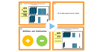 Year 3 Addition and Subtraction Lesson 3b Adding 3 and 3 Digit Numbers Without Carrying PowerPoint