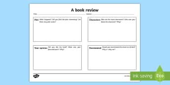 Book Review Template For Kids- book review writing template, book review, writing, template, writing template, books, review, aid