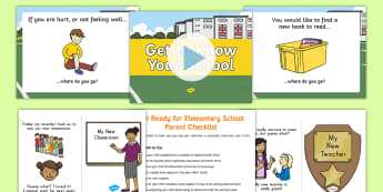 Preschool to Grade School Transition Resource Pack - Transition, moving up, preschool to grade school, pre-kindergarten to kindergarten