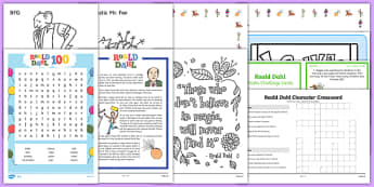 Top 10 Roald Dahl  Activity Pack