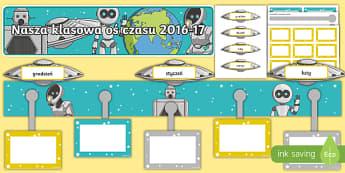 Zestaw Nasza klasowa oś czasu 2016-17 po polsku