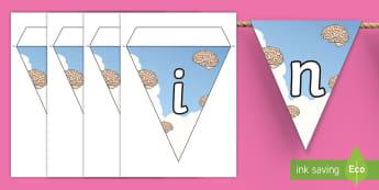 Brainwave Display Bunting - thinking, learning, brain box, brain gym, brain break.