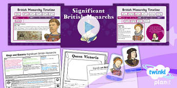 History: Kings and Queens: Significant British Monarchs KS1 Lesson Pack 2