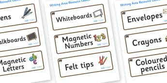 Bear Themed Editable Writing Area Resource Labels - Themed writing resource labels, literacy area labels, writing area resources, Label template, Resource Label, Name Labels, Editable Labels, Drawer Labels, KS1 Labels, Foundation Labels, Foundation S