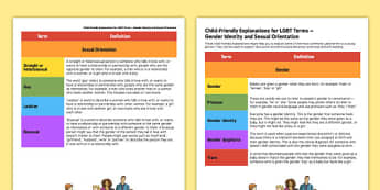Child-Friendly Explanations for LGBT Terms - child friendly, explanations, lgbt, lgbt terms, lesbian, gay, bisexual, transexual