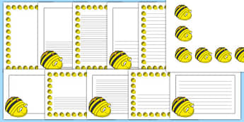 Bee-Bot Page Borders - bee-bot, beebot, bee bot, direction, position, positional language, move, movement, writing, frame, record, math, ssm