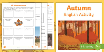 Year 3 Autumn English Activity Booklet - holiday booklet, homework booklet, y3, spag, writing activity, reading activity,