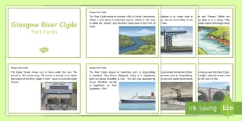 Glasgow River Clyde Fact Cards - Scottish Cities, Glasgow, River Clyde, Shipbuilding, Glasgow Shipyards, Clyde Tunnel,Scottish