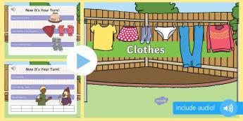 Îmbrăcăminte în limba engleză PowerPoint  - vocabular în engleză,  comunicare în engleză, pronunție în engleză, activități de comunicar