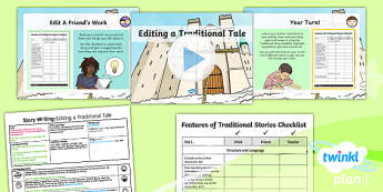 Plants: Jack and the Beanstalk: Story Writing 4 Y1 Lesson Pack - Traditional stories, life processes, living things, explanation texts, seed