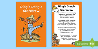 Dingle Dangle Scarecrow Nursery Rhyme IKEA Tolsby Frame - Dingle Dangle Scarecrow, nursery rhyme, Ikea Tolsby frames, baby signing, baby sign language, commun