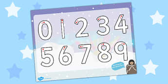 Polar Regions Themed Number Formation Activity Sheet- polar, number, overwriting