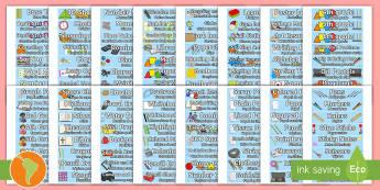 Classroom Equipment Labels - US English/Spanish (Latin) - Classroom Equipment Tray Labels - labels, tray labels, classroom equipment, class, classroom, sign,