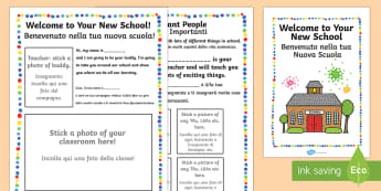 Starter Welcome to Your New School Booklet Italian Translation - EAL Starter Welcome to Your New School Booklet - New, School, EAL
