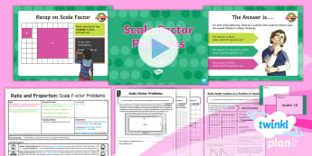 PlanIt Y6 Ratio and Proportion Lesson Pack Scale Factor and Enlargement (2) - Ratio and Proportion, scale factor, challenge factor, ratio, proportion, sats practise, sats practic