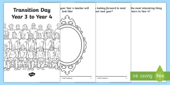 Transition Day Year 3 to 4 Booklet - transition day, year 3, year 4, booklet, transition, moving class, class, year group, school