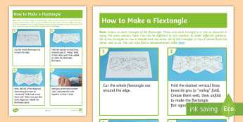 Flextangle Step-by-Step Instructions  - craft, guidance, how to, paper, method