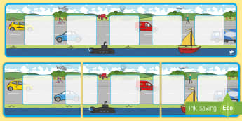 Transport Theme Visual Timetable Display - Visual Timetable, transport, SEN, Daily Timetable, Display, School Day, Daily Activities, KS1, Foundation Stage, display board, visual timetable display, Daily Routine