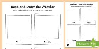 Read and Draw the Weather - read and draw, weather, read, draw, activity