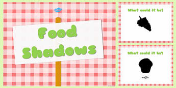 Food Themed Shadow PowerPoint - food, shadow, powerpoint, active