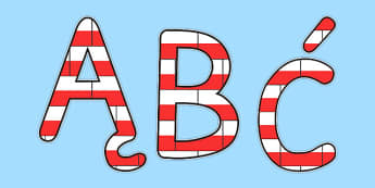 Kolorowe litery z flagami po polsku - Polska, polski, biel, biały, czerwony, czerwień, flaga, flagi, gazetka, alfabet, litery, patriota, patriotyczne, maj, maja, trzeci, trzeciego
