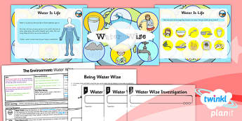 Science: The Environment: Water Wise Year 2 Lesson Pack 5