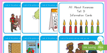 All About Kwanzaa - Tell It Information Cards - Kwanzaa, black history, festival, cultural, celebration, event, USA