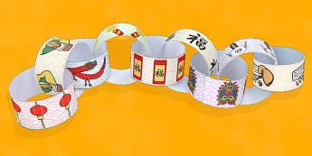 Chinese New Year Paper Chain - Activity, Activities, Australia