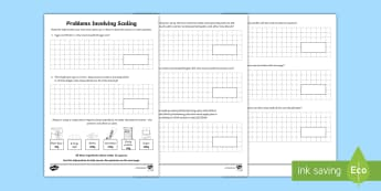 Problems Involving Scaling Activity Sheet-Australia - maths, mathematics, numeracy, multiplication, money, length, measurement, weight, activity sheet, fa