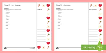 Mother's Day Bordered Letter French  - KS3, French, Mother's Day, fête, mères, border, page, lettre, adjectives, ,French