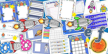 Space Themed EYFS KS1 Classroom Set Up Pack - transition, display
