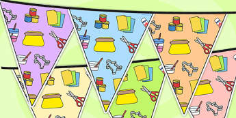 Modelling Area Themed Bunting - modelling, classroom areas, areas