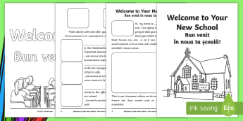 EAL Starter Welcome Your New School Booklet Romanian Translation
