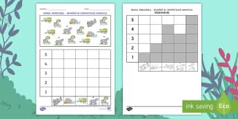 Rică rinocerul Numără și fă graficul Fișă de lucru - ronald, rică rinocerul, povești, activități integrate, activitate integrată, siruri logice, și