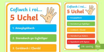 Poster 'Pump Uchel' Sut I Ddelio Gyda Bwlio Poster Arddangos A2-Welsh - WLW Wythnos Gwrth-Fwlio CS (Anti-Bullying Week Foundation Phase 14-18 of Nov), Wythnos Gwrth-Fwlio - WLW Wythnos Gwrth-Fwlio CS (Anti-Bullying Week Foundation Phase 14-18 of Nov)
