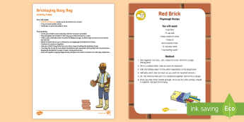Bricklaying Busy Bag Resource Pack for Parents - bricks, building, playdough, wall, connecting