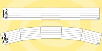 Stave Display Banner - stave, display banner, music, writing, composing