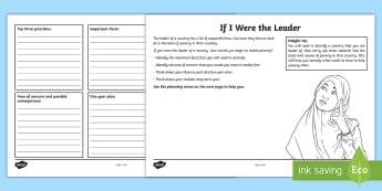 KS2 If I Were the Leader Activity Sheet - world's largest lesson, citizenship, global issues, responsibility, countries in poverty, sustainab
