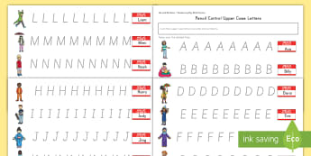 Me and My Name Capital Letters Pencil Control Activity Sheets - handwriting, letter formation, fine motor skills, letters, activity sheets, special education, works