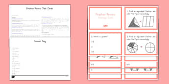 Common Core Fraction Task Cards - US Resources, Common Core, Fractions, Equivalent Fractions, Task Cards, Number and Operations-Fractions, NF, 3rd, 4th, 5th