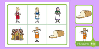 Hansel and Gretel Matching Cards and Board - hansel and gretel matching game, hansel and gretel picture matching activity, traditional tale matching games