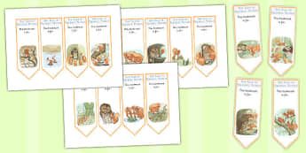The Tale of Squirrel Nutkin Editable Bookmarks - squirrel nutkin