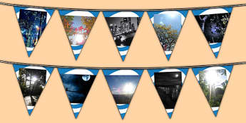 Light and Dark Photo Display Bunting - light and dark, light and dark bunting, light and dark photo bunting, light and dark display resources, display