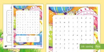 Easter Word Search - New Zealand Easter, easter eggs, easter bunny
