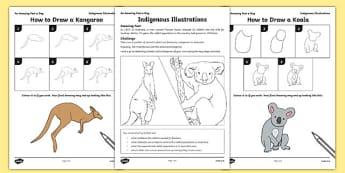 Indigenous Illustrations Activity Sheet, worksheet