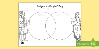 Indigenous Peoples' Day Venn Diagram Activity Sheet - Indigenous Peoples' Day, native, tribe, US, Columbus Day, venn, compare, contrast, worksheet