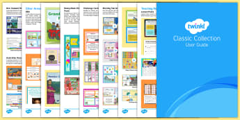 Twinkl Classic Collection User Guide - classic collection, classic, premium, package, user guide